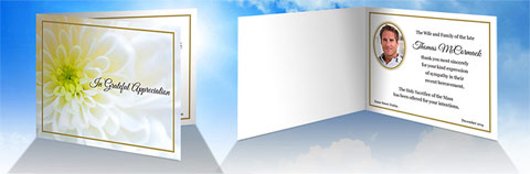 Order Folding Acknowledgement Cards
