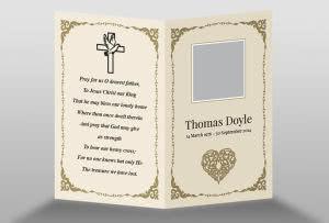 Funeral Memory Cards Free Templates | Free Memorial Card Template In Indesign Format Download Memorial