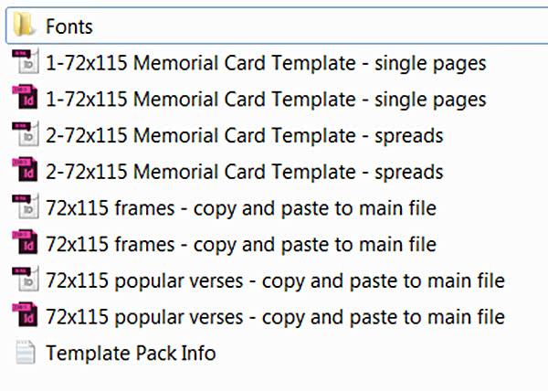 free memorial card template in indesign format download memorial