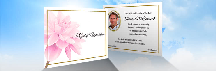 Double Sided Acknowledgement Thank You Cards