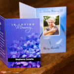 MP34 card with flowers in background