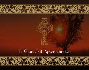 ACF7 - celtic acknowledgement card, front