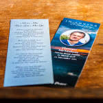 front and back of memorial bookmark