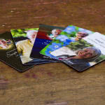 Multiple wallet memorial card designs
