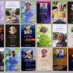 Multiple Wallet Memorial Card designs - fronts