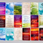 Multiple Wallet Memorial Card designs - backs with prayer or verse